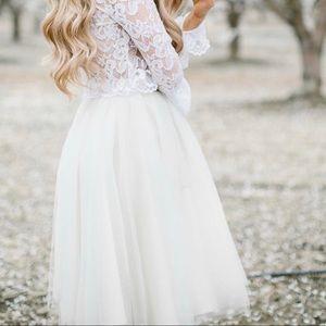 Bliss Tulle Ashley Skirt in Ivory